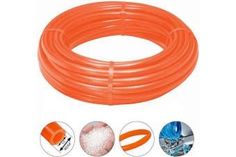 "(1/2"" ID-16.4ft, Orange) - Beduan Pneumatic Air Tubing Pipe Orange 1.3cm ID PU Air Compressor Hose Line Tube for Fluid Transfer Tool 16.4ft 5Meter"