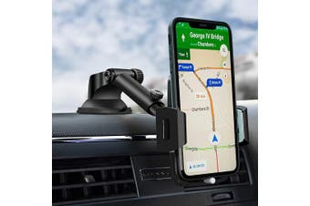 (Black Gray) - Car Phone Mount, Dashboard Car Phone Holder, Washable Strong Sticky Gel Pad with One-Touch Design Compatible iPhone 11 pro,11 pro max,X,XS,XR,8,7,6 Plus,Galaxy S7,8,9,10,Google Nexus