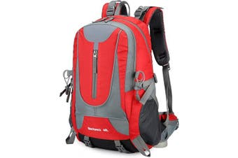 (Red) - Adnyoutdoor 40L Water Resistant Men Women Hiking Backpack Lightweight Outdoor Sports Travelling Rucksack Cycling Mountaineering Camping Walking Daypack