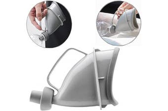 QUCHENG Portable urinals for men and women,Reusable Portable Funnel Travel Toliet Pee Bottle for Outdoor Camping Emergency Sit or Standing (Grey)