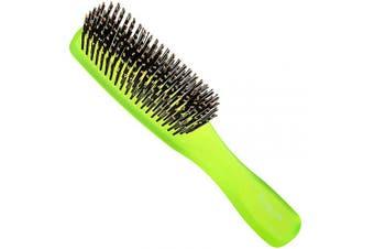 (Large, Green) - Giorgio GION1G Neon Green 20cm Gentle Touch Detangler Hair Brush for Men Women. Soft Bristles for Sensitive Scalp. Wet and Dry for all Hair Types. Scalp Massager Brush Stimulate Hair Growth