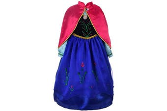 (2-3 Years) - Lito Angels Girls Princess Anna Costume Anna Dress Halloween Fancy Party Dress W/ Cape Size .