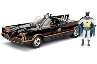 (1966 Classic Batmobile 1:24) - Jada Toys 253215001 Batmóvil coche metal 1966 Classic serie TV con figura 1:24 Batman-1966 Batmobile, Black