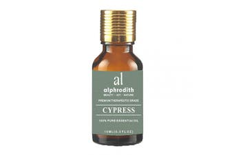 (Cypress, 10ml) - Premium Aromatherapy Cypress Essential Oil 100% Organic Pure Undiluted Therapeutic Grade Scented Oils - 10ml for Diffuser, Relaxation, Skin Therapy, Spa & Home