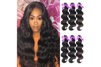 (16/2.3cm , 3 Bundles) - Beaudiva Hair Brazilian Virgin Hair 3 Bundles Body Wave Hair 100% Unprocessed Brazilian Human Hair (16 18 50cm , 3 Bundles)