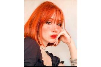 (orange) - Annivia Orange Short Bob Wig with bangs Orange Colourful Wig for Women Cosplay Fun Party Wig
