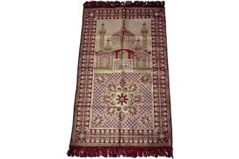 (Red) - HDI Muslim Prayer Mat Lightweight Thin Istanbul Turkey Sajadah Carpet Islam Eid Ramadan Gift (Red)