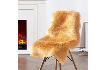(2*3 sheepskin, Khaki) - Ciicool Faux Sheepskin Rugs Soft Faux Fur Rugs Khaki Fluffy Rugs Chair Couch Cover Fuzzy Rugs for Bedroom Floor Sofa Living Room 0.6m x 0.9m