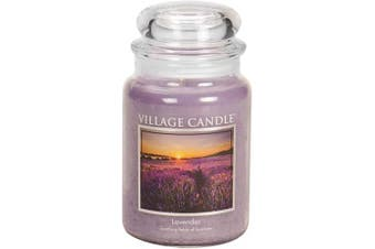 Village Candle Lavender 770ml Glass Jar Scented Candle, Large