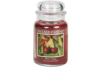 Village Candle Black Cherry 770ml Glass Jar Scented Candle, Large