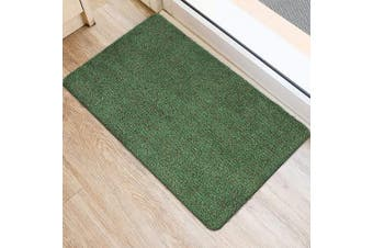 (90cm  x 60cm , Green Fibers) - BEAU JARDIN Indoor Super Absorbs Mud Doormat 90cm x 60cm Latex Backing Non Slip Door Mat for Front Door Inside Floor Dirt Trapper Mats Cotton Entrance Rug Shoes Scraper Machine Washable Rug Carpet