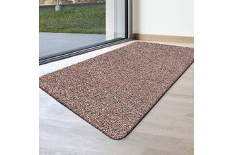 (120cm  x 70cm , Brownish Tan) - BEAU JARDIN Indoor Doormat Super Absorbs Mud Mat 120cm x 70cm Latex Backing Non Slip Door Mat for Front Door Inside Floor Dirt Trapper Mats Cotton Entrance Rug Shoes Scraper Machine Washable Carpet Large