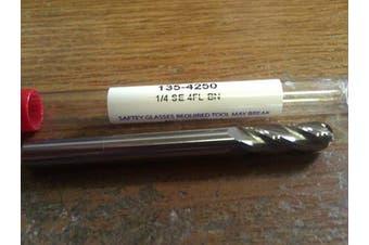 1/4 Carbide 4 Flute Ball Nose End Mill 135-4250 USA