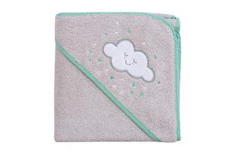 (Grey) - Clevamama Apron Baby Bath Towel with Hood, Grey, 458g