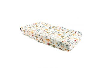 (Narwhal) - Bebe au Lait Classic Muslin Changing Pad Cover, 100% Cotton Muslin, One Size Fits Most - Narwhal
