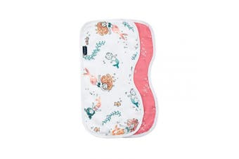 (Mermaids and Bubbles) - Bebe au Lait Oh So Soft Muslin Baby Burp Cloth Set - Mermaids and Bubbles