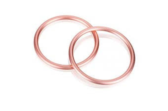 (Rose Gold) - Accmor Baby Sling Ring 7.6cm Aluminium Wrap Rings Soft Carrier Ring Accessory for Infants Toddlers Newborn Kids, Works with Your Own Material or Convert Wrap to Sling (Rose Gold)