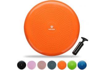 (Orange) - BODYMATE 34cm Balance Cushion. Inflatable stability disc/balance board