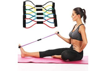 OOTO Resistance Bands - Exercise Bands with Handles, Home & Gym Strength Training Tubes, Resistance Loop Bands for Men/Women, Workout Bands for Shoulder, Best for Home Fitness, Yoga, Pilates