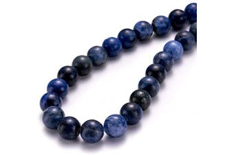 """(10mm, Blue Sodalite) - BEADIA Synthetic Colouring Blue Sodalite Stone Round Loose Semi Gemstone Beads for Jewellery Making 10MM (15""""/Strand) 37PCS"""