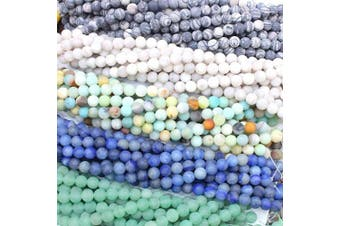 (4mm, Color 1) - Tacool 5 Strands Round Genuine Gemstone Beads for Jewellery DIY Making Loose Beads (Colour 1, 4mm)
