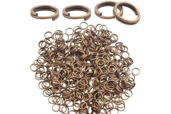 (Bronze) - Split Rings 6mm, 500 Pieces Double Loop Jump Ring Split Rings Connector for Jewellery Making Key, Bronze