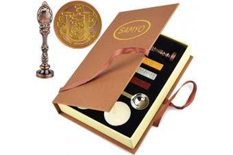 (U) - Samyo Wax Sealing Stamp Classic Old-Fashioned Antique Alphabet Initial Letter Creative Romantic Seal Stamp Maker Copper (U)