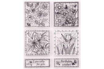 Flowers Rose Lily Tulip Daisy Stamp Rubber Clear Stamp/Seal Scrapbook/Photo Album Decorative Card Making Clear Stamps