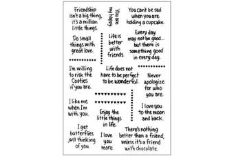 (Type 2) - Verses Friendship Love You Sentiments Sayings Phrase Greetings Rubber Clear Stamp/Seal Scrapbook/Photo Decorative Card Making Clear Stamp