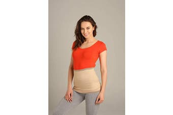 (Size 5 - See second image, Beige) - ®BeFit24 Kidney Warmer for Women - Lumbar Sciatica Belt - Lower Back Pain Brace for Degenerative Disc Disease, Lumbago Prevention and Treatment - [ Size 5 - Beige ]