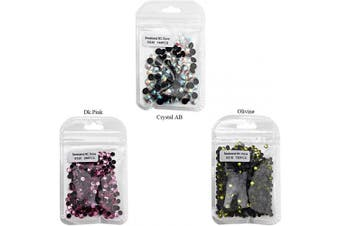 (mix, Mix-8) - Beadsland Crystal Hotfix Rhinestone,Machine Cut Stone with 3 Colours (Mix-8, Mix)