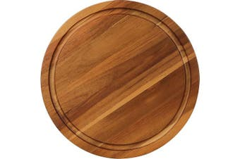 """(14x 14"""" x 2.3cm  Round) - AIDEA Round Cutting Board Acacia Wood Cheese Board and Thick Charcuterie Board With Juice Groove.…"""