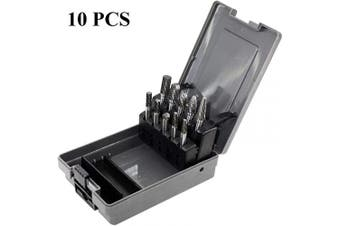 10pcs Tungsten Carbide Burrs Set with 0.6cm Shank Double Cut Solid Power Tools Carbide Rotary Files Bits for Die Grinder Metal Wood Carving Engraving Polishing Drilling Grinding Milling Cutting