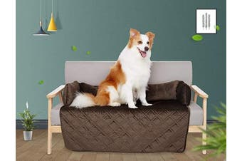 """(Large Pet Sofa Bed, Chocolate) - Brilliant Sunshine Waterproof Velvet Pet Couch Sofa Bed Slip Resistant 110cm , with 3-Sides Removable Cushions, Soft and Durable for Dogs, Cats (Large 110cm ×80cm ×8"""" Chocolate)"""