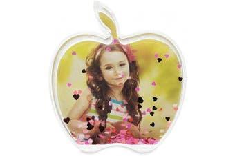 BestPysanky Apple Shaped Glitter Water Globe Picture Frame 10cm