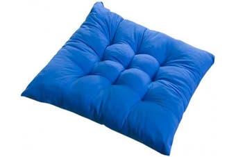 (4PCS, Dark Blue) - PICTURESQUE 4pcs/Set Soft Blue Seat Pads for Dining Chair 40x40cm Cushion