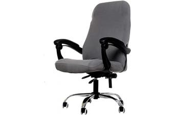(Grey) - Deisy Dee Computer Office Chair Covers for Stretch Rotating Mid Back Chair Slipcovers Cover ONLY Chair Covers C162 (Grey)