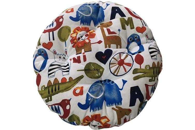 (40cm , Animals) - TINTON LIFE 41cm Padded Round Bar Stool Cover Cushion with Elastic Fabric Round Chair Seat Cushion for Wooden Metal Stools Animals