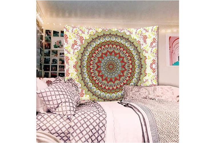 Dick Smith 150 200cm Yellow A Amebay Indian Mandala Tapestry Wall Hanging Aamebay Multifunctional Hippie Bohemian Wall Tapestry For Living Room Bedroom Dorm Decor Wall Blanket 200150cm Tapestries