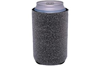 (1, Silver) - Glitter Can-Tastic Neoprene Can Coolie (Silver, 1)