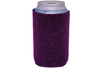 (2, Purple) - Glitter Can-Tastic Neoprene Can Coolie (Purple, 2)