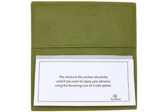 (Linden Green) - Linden Green Genuine Leather Chequebook Cover with Matching Leather Hand-wrapped Gold Pen Colorado Collection – American Factory Direct – Made in USA by Real Leather Creations FBA646