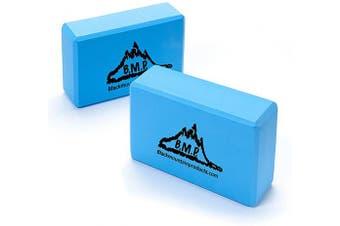 (3x 6Inch x 23cm , Blue) - Black Mountain Products Yoga Blocks