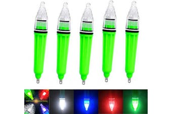 (5 color_5pcs_4.7 in) - AGOOL LED Underwater Light Deep Drop LED Light Waterproof Flashing Fishing Light Attractive Light Bait Lure Lamp Fish Tools Fishing Bait Lure 5 Colours 17cm 12cm