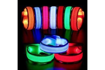 BBTO 12 Pieces LED bracelet Light Up Bracelets LED light bracelet led Armbands Flashing Sports Wristband High Visibility Gear for Running, Cycling, Concerts, Festivals or Walking at Night