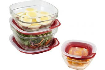 (Set, 6Piece) - Rubbermaid Easy Find Lids Glass Food Storage and Meal Prep Containers, Set of 3 (6 Pieces Total)