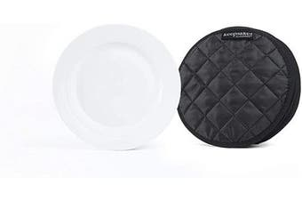 (4PK Dividers - 20cm , Black Quilted Polyester) - Covermates Keepsakes – Set of 4 Dividers - Scratch & Breakage Protection - Dish Dividers - Dish Storage - Black