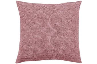 (Euro Sham, Pink) - Better Trends Ashton Collection in Medallion Design 100% Cotton Tufted Chenille, Euro Sham, Pink