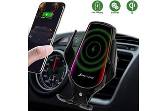 (Tarnish) - Wireless Car Charger, 10W Qi Auto-Clamping Car Charger Mount, Air Vent Dashboard Fast Charging Car Charger Holder Compatible iPhone SE/11/11 Pro/11 Pro Max/Xs MAX/XS/XR/X/8/8+, Samsung S10/S10+/S9/S9+