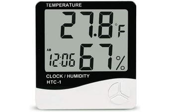 (White) - AUTIDEFY Digital Hygrometer Indoor Thermometer, Humidity Gauge Indicator Room Thermometer, Accurate Temperature Humidity Monitor Metre(Battery Included)